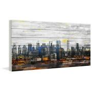 Parvez Taj New York Colors White Wood Wall Art