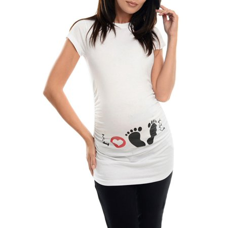 a8db474c30a04 OUMY - OUMY Womens Maternity Letter Printed T-shirt Pregnant Tops - Walmart .com
