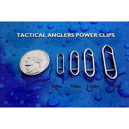 Tactical Anglers Power Clips Fast Snap Fishing Terminal Multipacks [25 - -