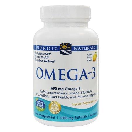Nordic naturals omega 3 formula purified fish oil lemon for Fish oil nordic naturals