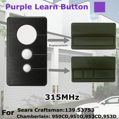 For Chamberlain 373lm 3 Button 315mhz Garage Door Opener