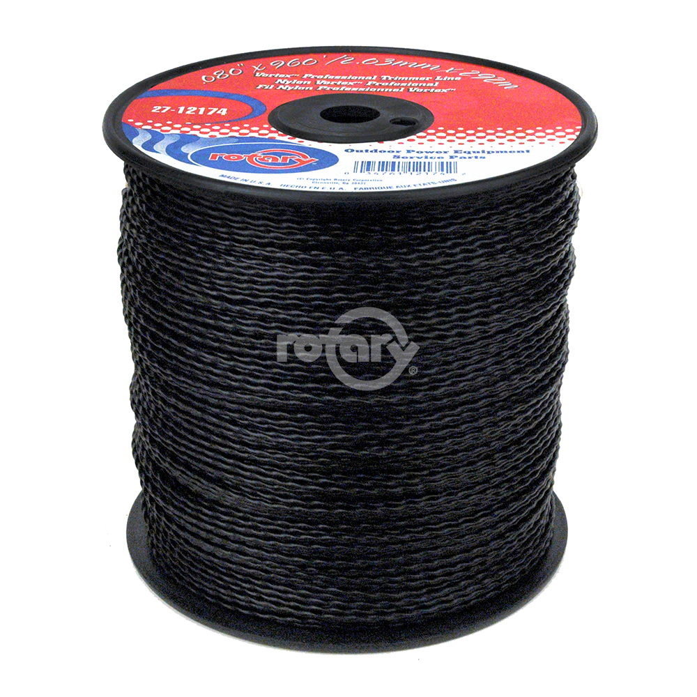 Trimmer Line .080 Md Spool Black Vortex Line