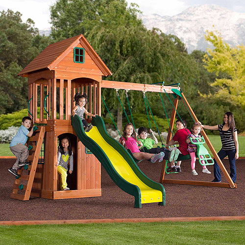 Backyard Discovery Springwood Wooden Swing Set Walmart Com