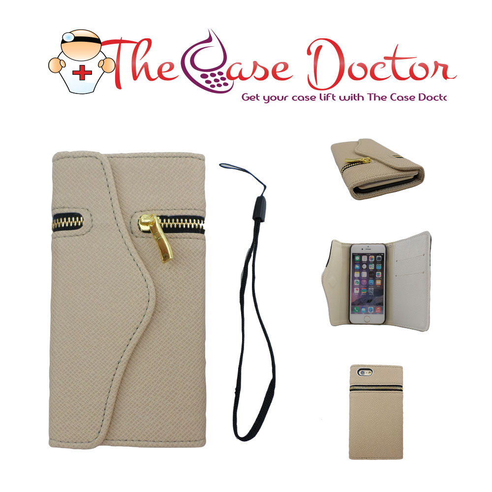 TCD iPhone 5C Elegant Travel Zipper Wallet PU Leather Case Cover
