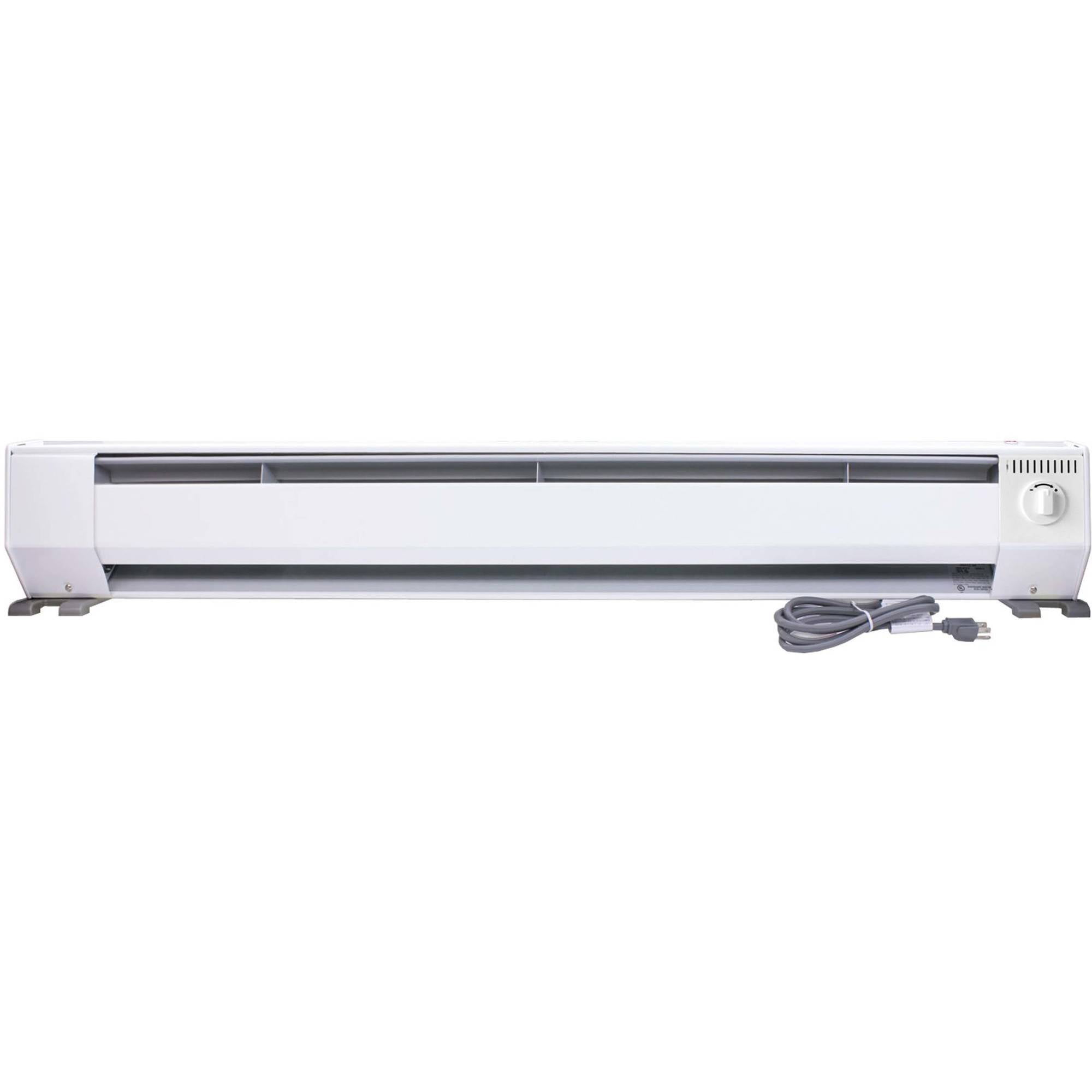 King 4' Portable Electric Baseboard Heater, White by King Electric