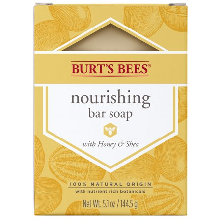 Burts Bees Skin Soap (Burts Bees Nourishing Bar Soap with Honey & Shea 5.1 Ounce)