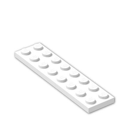 Brick Building Sets Original LEGO® Parts: Plate 2 x 8 #3034 (Pack of 8pcs) (White) 8' Two Way Plate