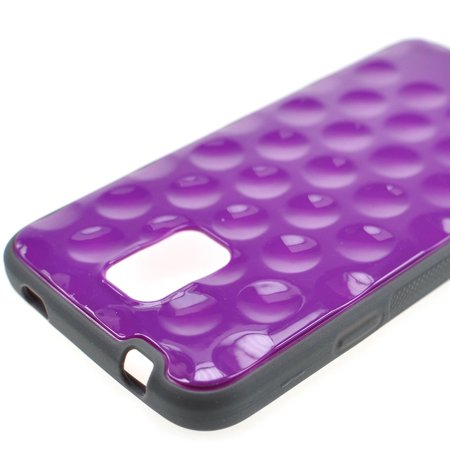 For Samsung Galaxy S5 - Hybrid Smooth Golf Ball Case Hard TPU Grip Cover in Purple ()