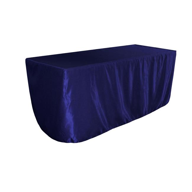LA Linen TCbridal-fit-72x30x30-RoyalB50 Fitted Bridal Satin Tablecloth, Royal Blue 72 x 30... by