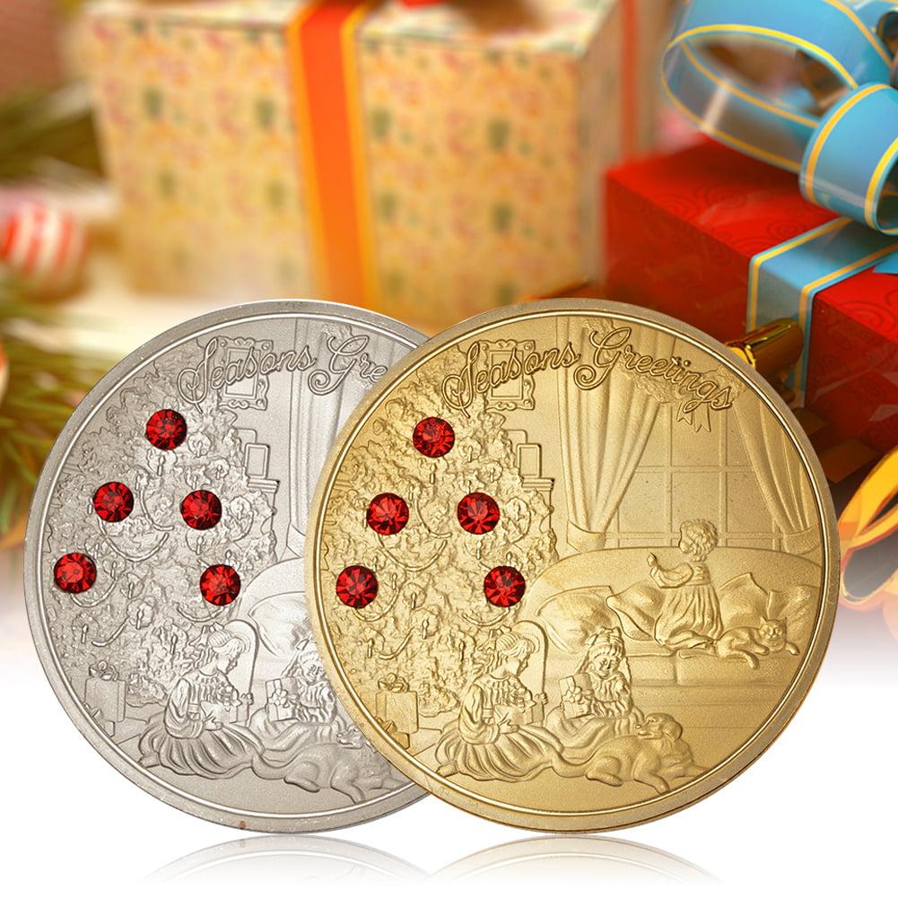 Directer Xmas Commemorative Coin Kids Gift Box Holiday Season Souvenir Collection Gift