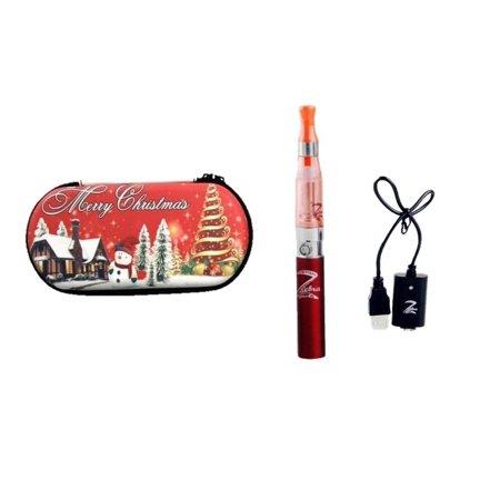 Christmas Electronic Vape Pen E-Cigarette Electronic Cigarette Vaporizer eGo CE4 Atomizer EGO-T 650 mah Battery Vaporizer Pen Starter Kit (Red)