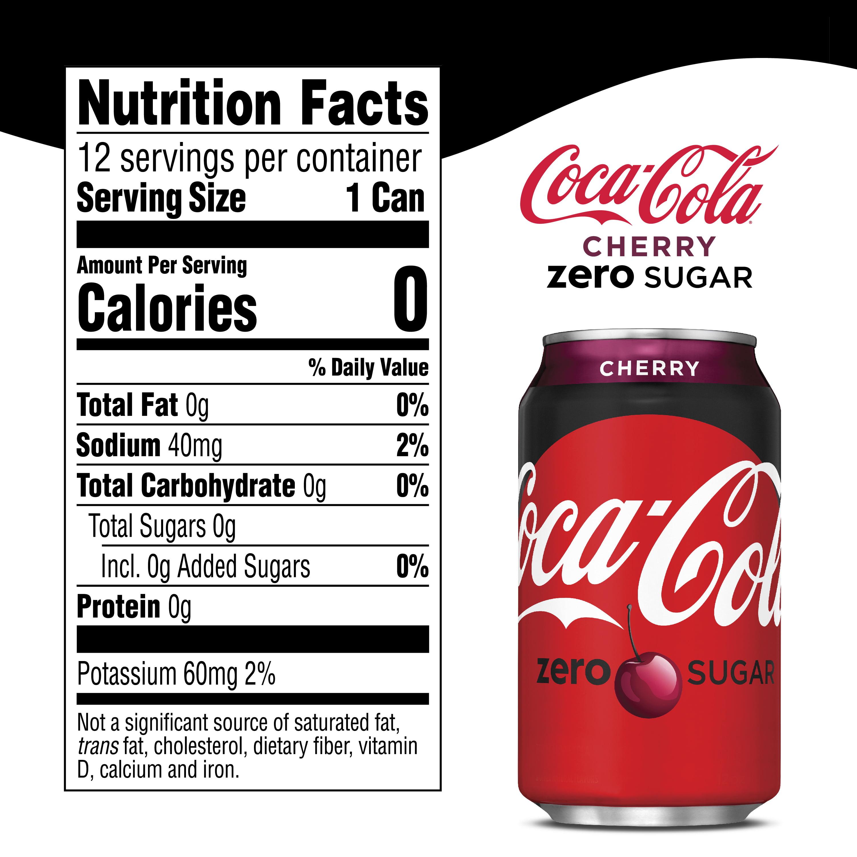 Coca-Cola Zero Cherry Flavored Soda, 12 Fl Oz, 12 Count