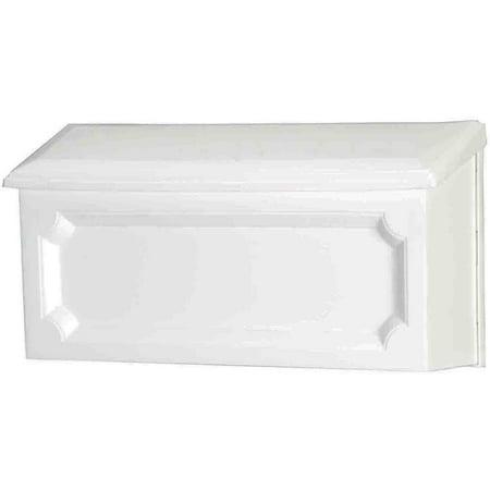Gibraltar Waverly Standard Size Horizontal Plastic Wall Mount Mailbox  White
