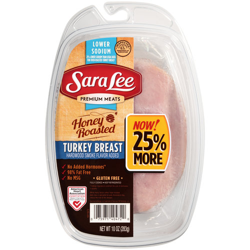 Sara Lee Premium Meats Lower Sodium Honey Roasted Turkey Breast, 10 oz
