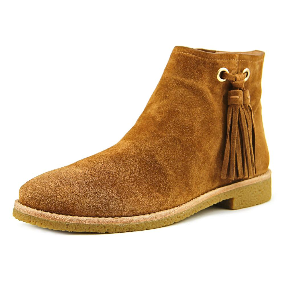 Kate Spade Bellamy Women Round Toe Suede Tan Ankle Boot by kate spade