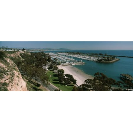 High angle view of a harbor Dana Point Harbor Dana Point Orange County California USA Canvas Art - Panoramic Images (15 x