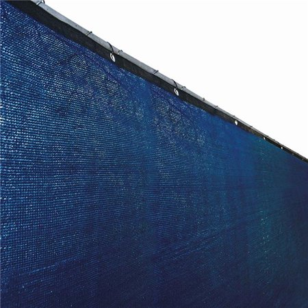 6 x 50 ft. Fence Privacy Screen Mesh Fabric with Grommets, Blue