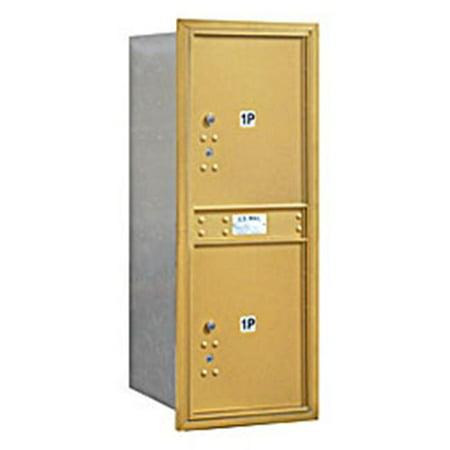 2 Parcel Lockers in Gold - Rear Loading USPS Access