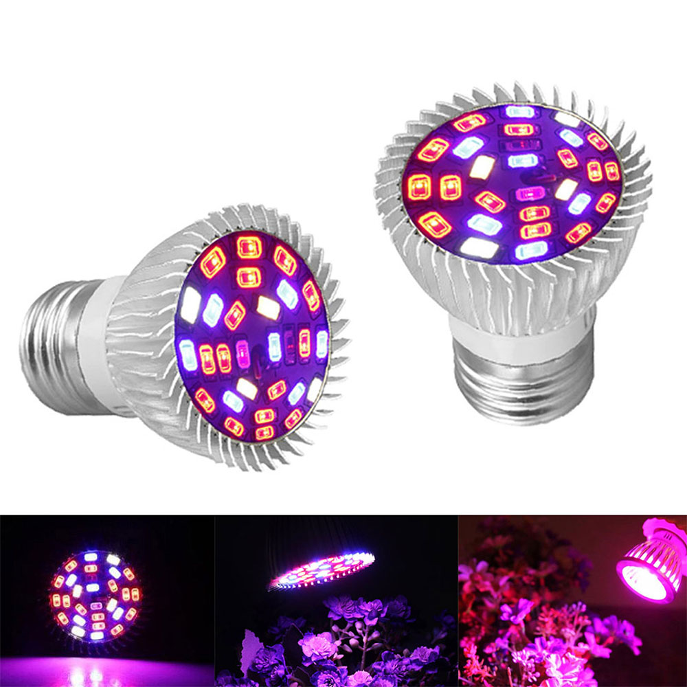 4 Pack Full Spectrum Plant Bulb,Grow Light Shed Plants Lamp E27 for Indoor Outdoor Garden Vegetable Greenhouse Hydroponic Plants Light