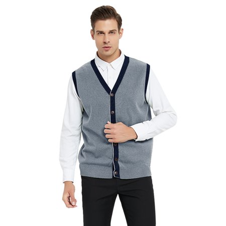 TOPTIE Men's Slim Fit Stylish Button Down Knitted Sweater Cardigan