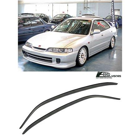 Extreme Online Store for 1994-2001 Acura Integra 4Dr Sedan   EOS Visors JDM Tape-On Style Smoke Tinted Side Window Vent Visors Rain Guard Deflectors JDM DB7 DB8