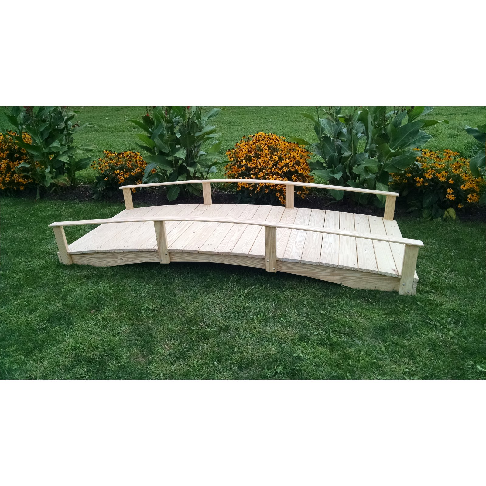 A and L Furniture Cedar Oriental Garden Bridge