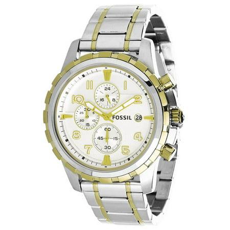 Fossil Men's Dean FS4795 Silver Stainless-Steel Analog Quartz Fashion Watch