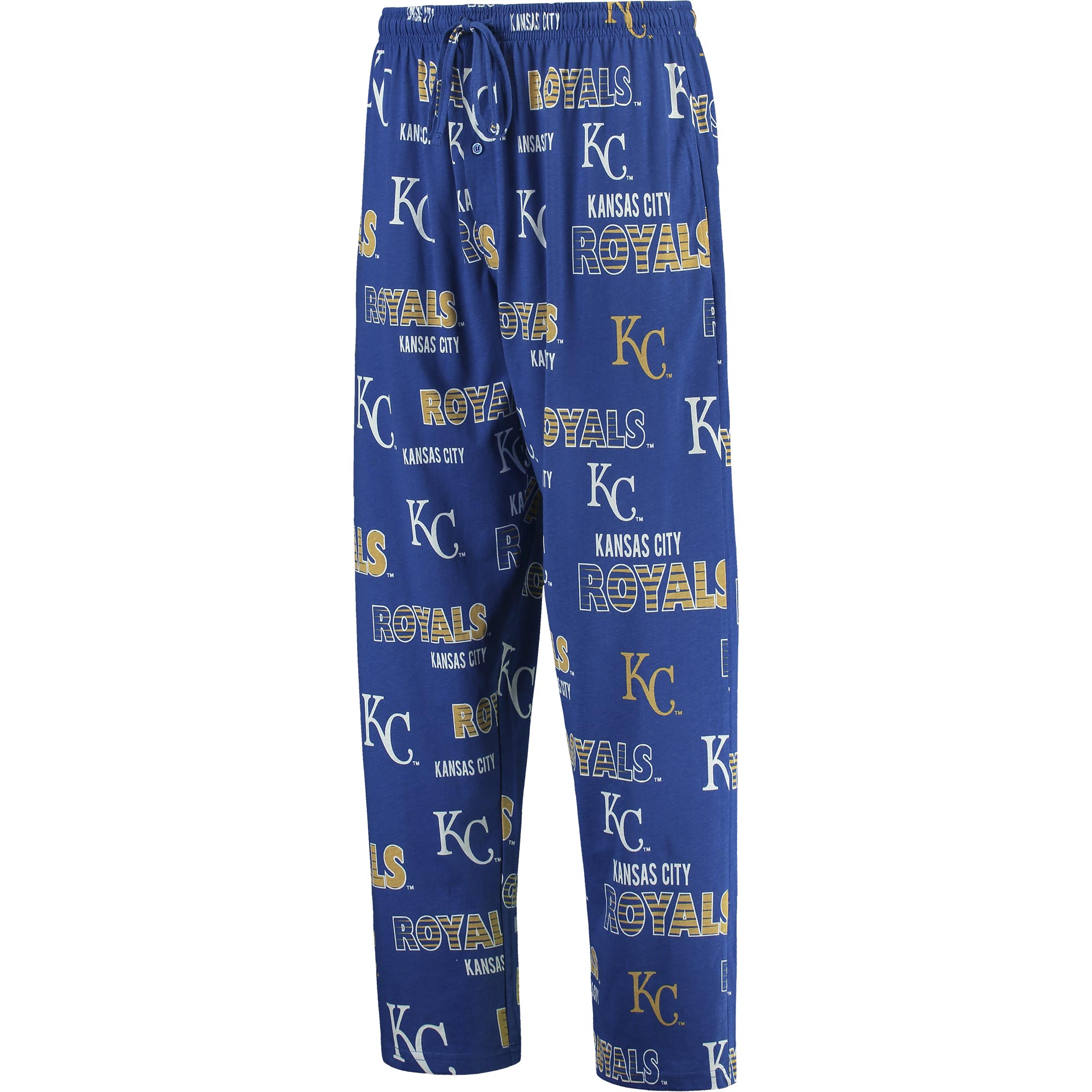 Kansas City Royals Concepts Sport Sweep Allover Knit Pants - Royal