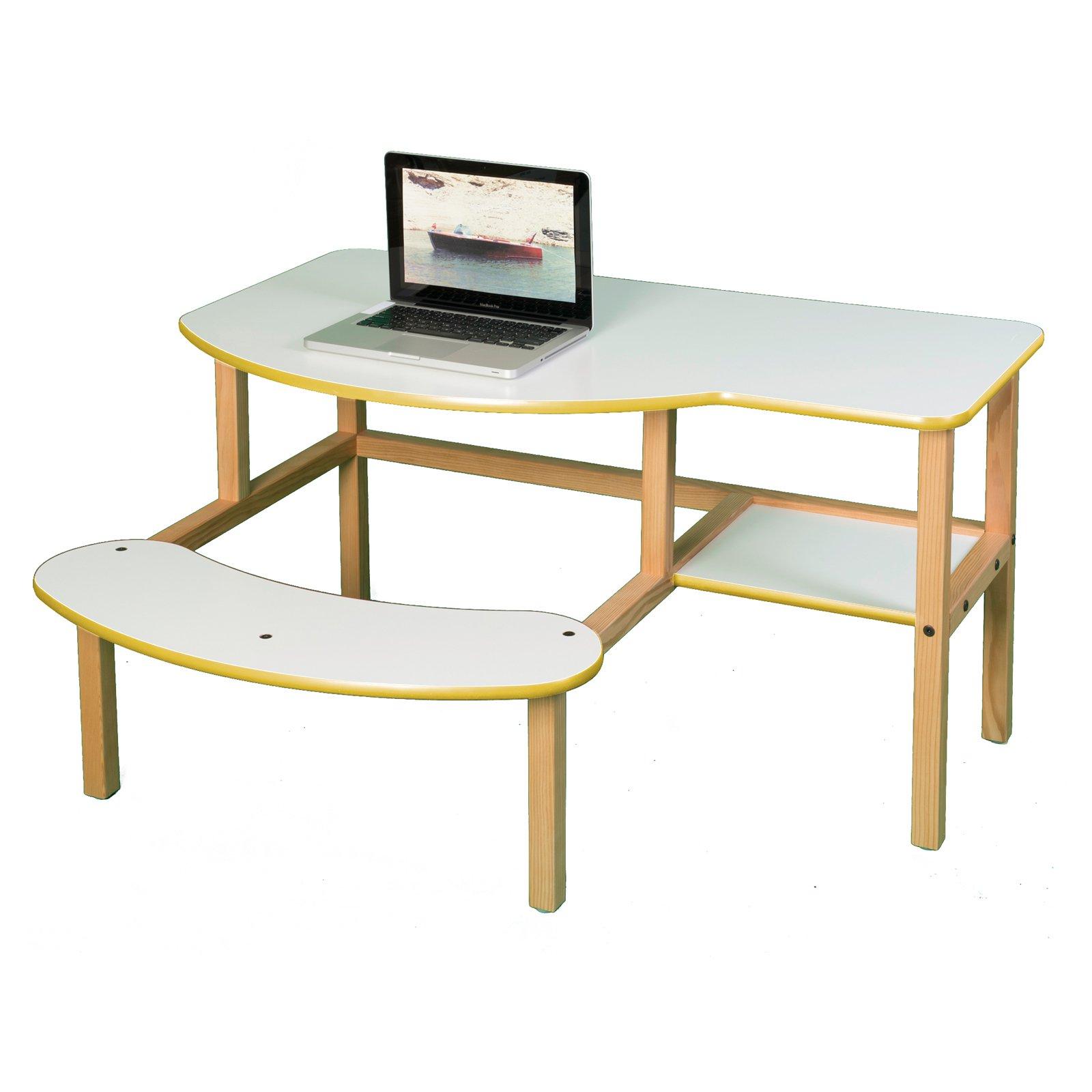 Wild Zoo Pre-School Buddy Computer Desk - White