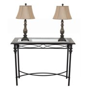 Briarwood Home Decor Dark Bronze Console Table With Lamp Set