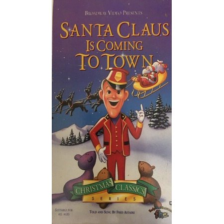 VHS SANTA CLAUS IS COMING TO TOWN-Christmas Classic-Fred Astaire-RARE-SHIP 24HRS
