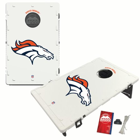 Denver Broncos 2 'x 3' Classic Design BAGGO Bean Bag Toss Game - No Size (Baggo Board)