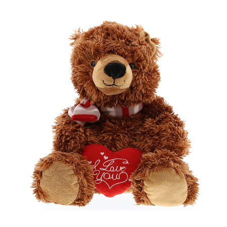Super Soft Plush Dollibu Sitting Grizzly Bear Red I Love You Valentines Plush](Grizzly Bear Mascot)