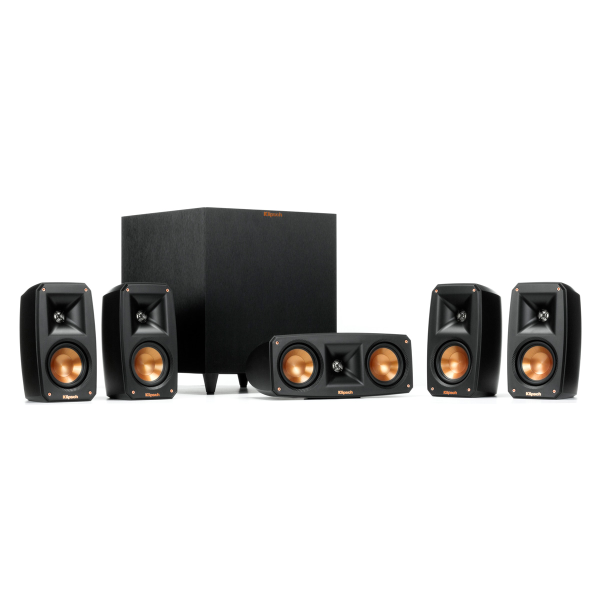 Klipsch Reference 5.1 Theater System with Satellite Speakers, Center Speaker, and Subwoofer (Black) by Klipsch