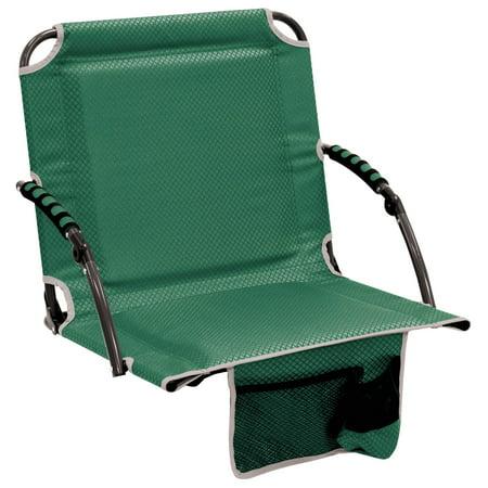 Bleacher Boss Stadium Seat with Arms - Green