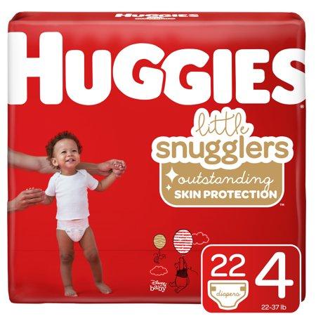 Huggies Little Snugglers Baby Diapers, Size 4, 22 Ct, Jumbo Pack