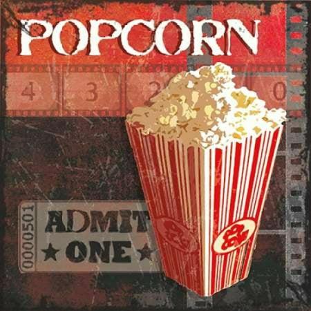 Popcorn Time Poster Print By Sandra Smith