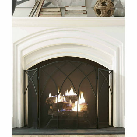 Pleasant Hearth Gothic Fireplace Screen,