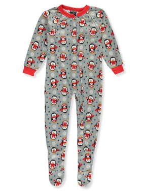 Quad Seven Boys' Holiday Print 1-Piece Footed Pajamas