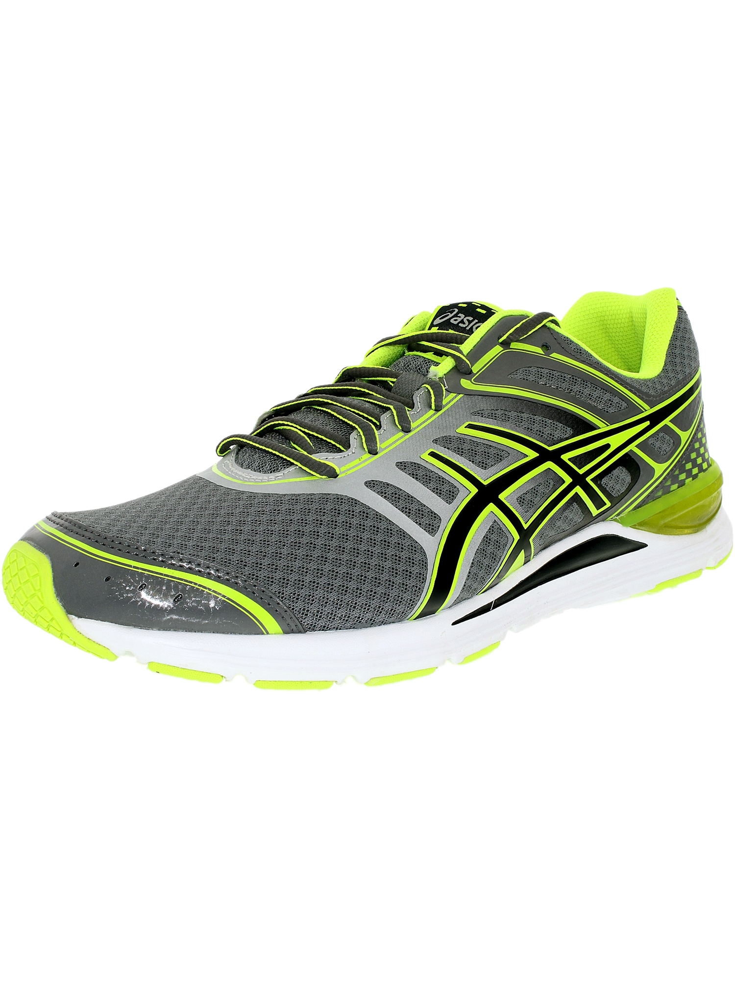 Asics Women's Gel-Storm Charcoal Black Flash Yellow Ankle-High Tennis Shoe - 12M