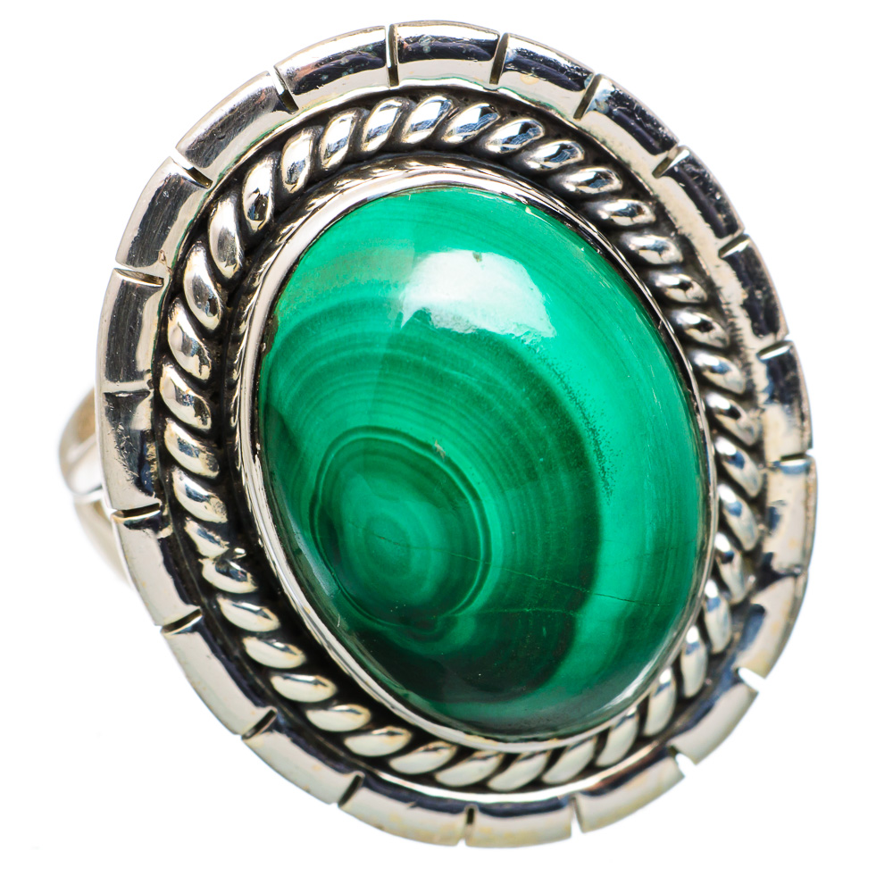 Ana Silver Co Malachite Ring Size 9 (925 Sterling Silver) - Handmade Jewelry RING845329