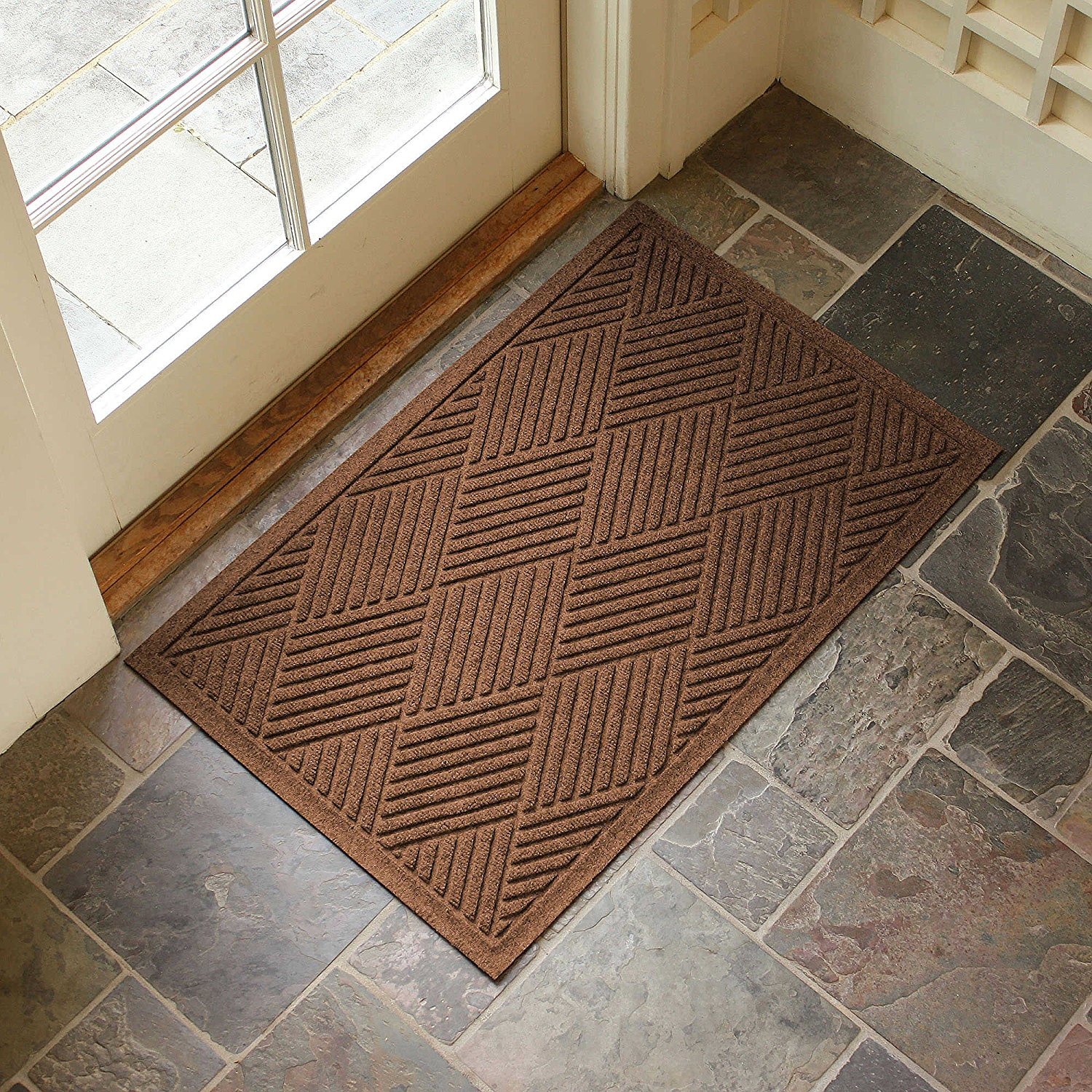 Good Large Entryway Rug With Non Slip Rubber Backing   Front Door Mat   Outdoor Indoor  Entrance