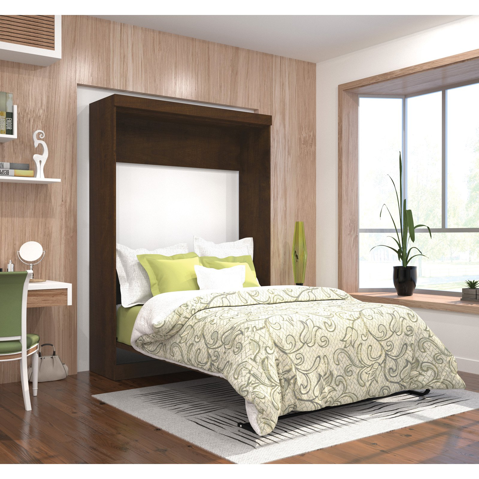 Pur by Bestar Full Wall bed in Chocolate