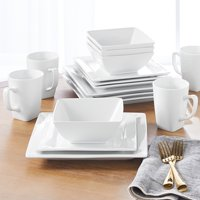 Deals on Better Homes & Gardens 16 Piece Square Dinnerware Set