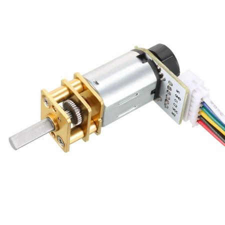 6V 150RPM DC Gear Motor w Encoder Speed Velocity Measurement for Model Plane - image 6 of 6