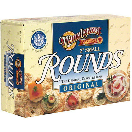 Valley Lahvosh Original Small Rounds Crackerbread, 4.5 oz (Pack of 12) (Stall Snack)