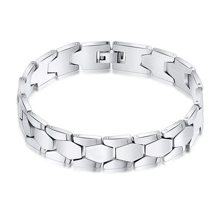 Ginger Lyne Collection Stainless Steel Mens Link Bracelet Collection Stainless Steel Bracelet