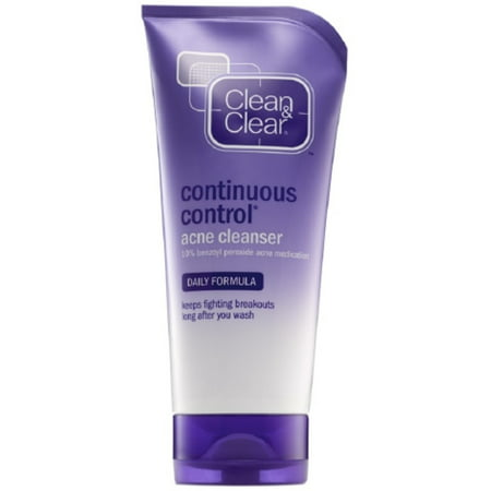 CLEAN & CLEAR Continuous Control Acne Cleanser 5 oz (Pack of 6)