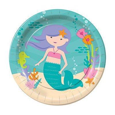 Shindigz Mermaid Princess Birthday Party Dessert Plates for $<!---->