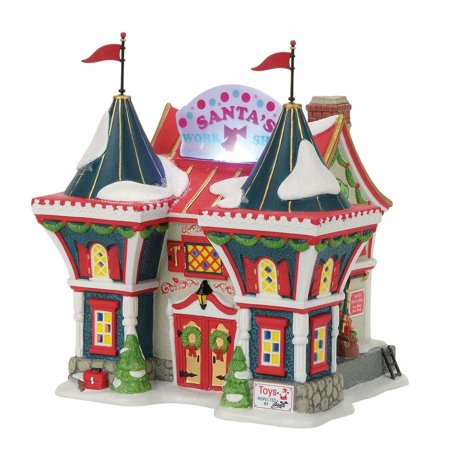 Dept 56 North Pole Series 4056663 Santa's North Pole Workshop 2017 Department 56 North Pole Series